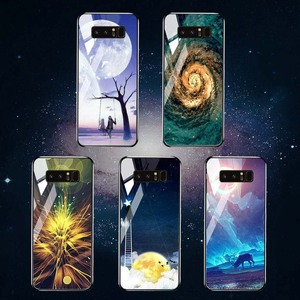 Image 5 - Tempered Glass Case For Samsung Galaxy S10 Cases Star Space Fundas  Samsung Note 20 Ultra S20 10 Lite S8 S9 Plus S10e 8 Covers