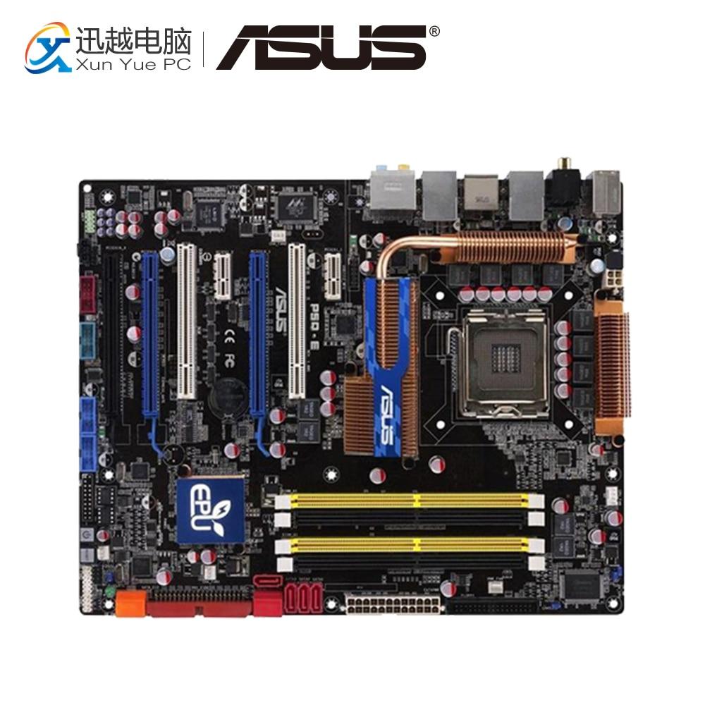 Asus P5Q-E Desktop Motherboard P45 Socket LGA 775 DDR2 16G SATA2 USB2.0 ATX цена 2017