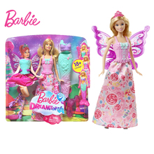 Original Barbie Brand Fairy Tale Mermaid Dress Up Doll Girl Toys Gift Set Birthday Christmas Girls Reborn Toy Gift for Children original barbie doll princess kelly tree house gift box set barbie girl dress fashion toy birthday christmas gift fpf83