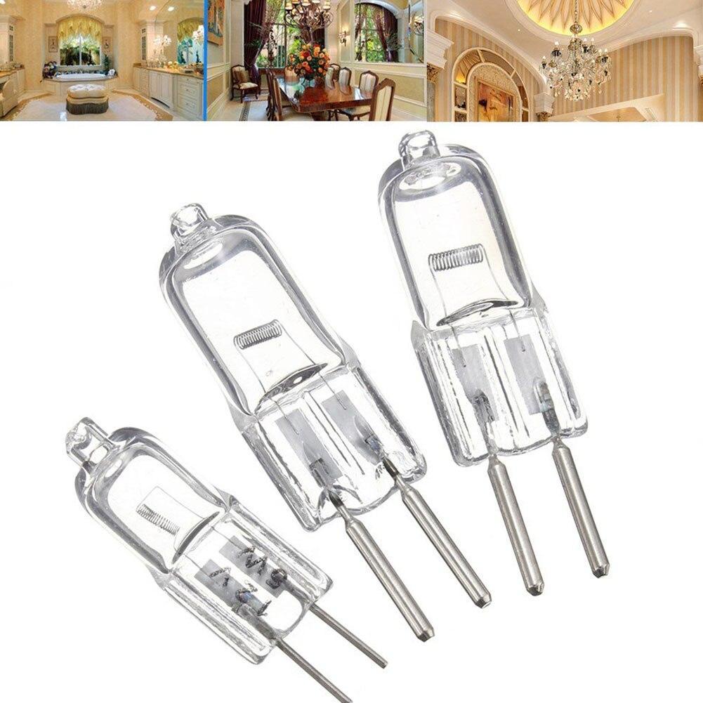 5 шт./лот G4 12 В 20 Вт галогенная лампа G4 12 В 5 Вт/10 Вт/20 Вт лампа вставленные бусины Кристалл галогеновая лампа