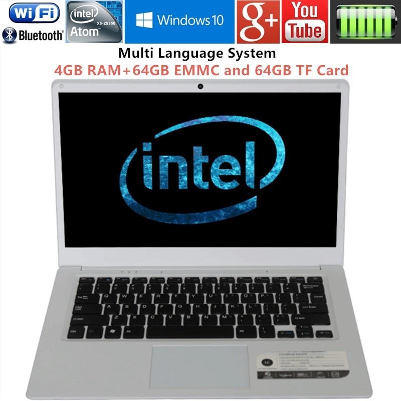 14inch 1366X768P 4GB font b RAM b font 64GB EMMC and 64GB TF font b LAPTOPS
