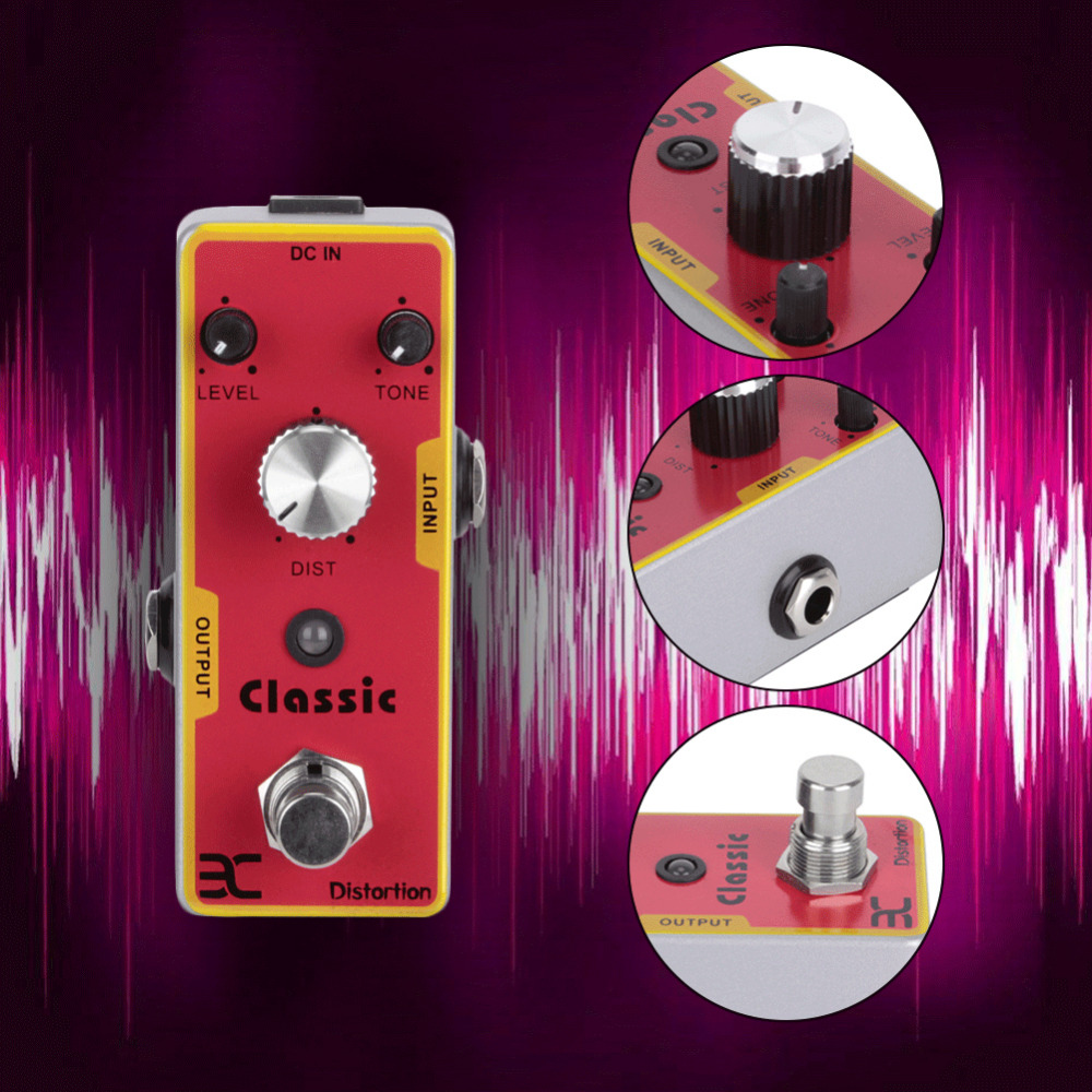 2017 Classic Metal Distortion Pedal For Electric Guitar High Quality Electric Guitar Effect Pedal Adjust The Total Volume the thing classic volume 1