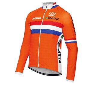 Image 2 - Несколько выбранных зимних теплых флисовых или тонких новых голландских команд, длинные профессиональные велосипедные Джерси/комплекты/брюки JIASHUO