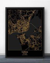 Лиссабон Порто карта Португалии постер