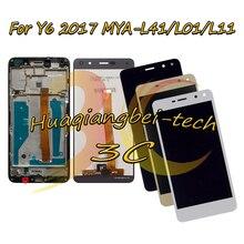 Yeni Huawei Nova Genç 4G LTE MYA L11/Y6 2017 MYA L41 MYA L01 Tam lcd ekran + dokunmatik ekranlı sayısallaştırıcı grup Çerçeve Ile
