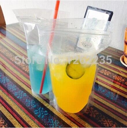 13 20 4 Beverage Bags Transpa Ziplock 300 500ml Drink
