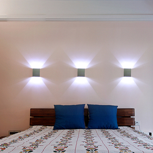 Image 3 - 3 יח\חבילה כיכר Led קיר מנורת מנורות קיר Led קיר אור arandelas para פארדה אלומיניום 3 W 110 V 220 V KTV בר שלב מדרגות מבואה JQ