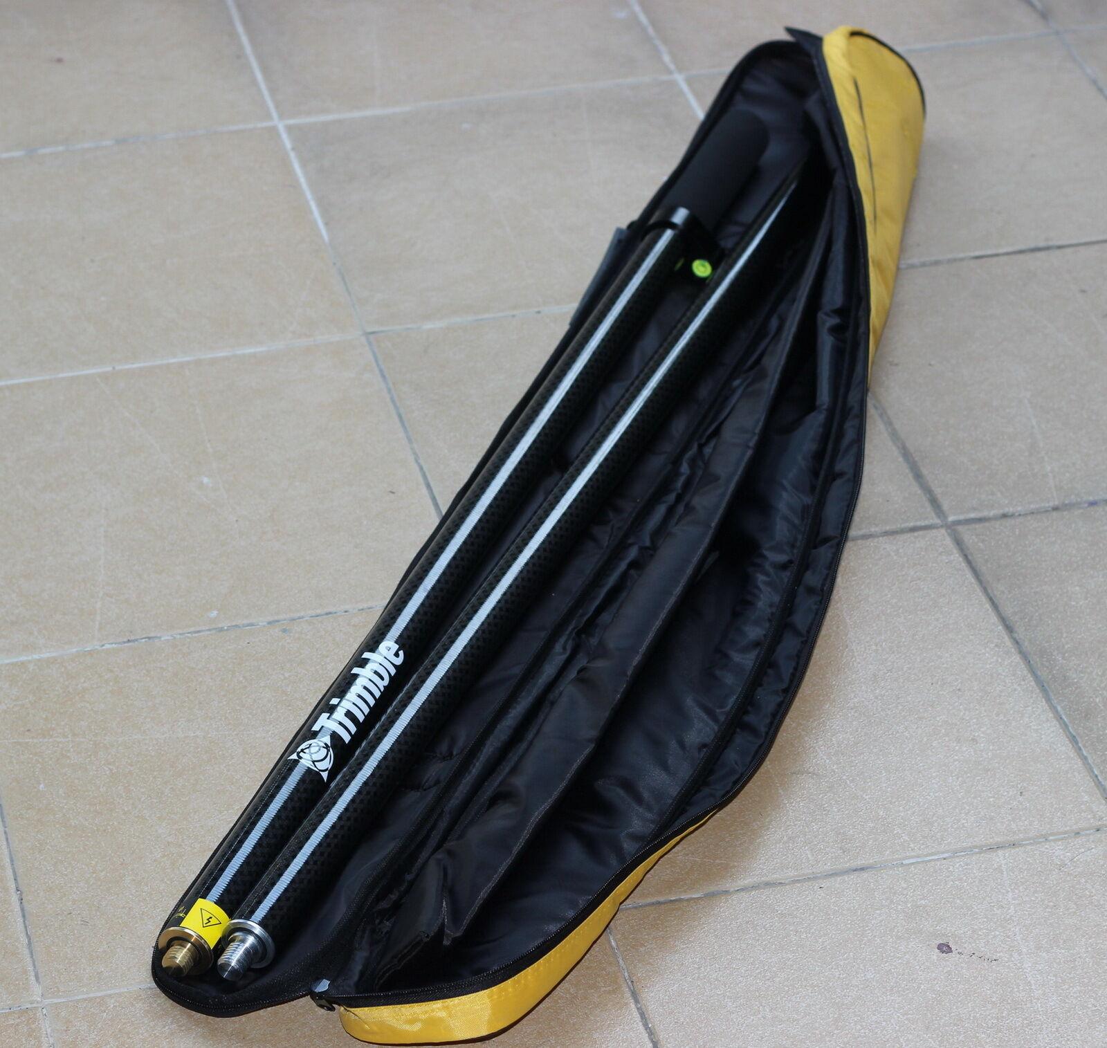 NOVA 2M seções Costura pólo vara de carbono de Fibra de Carbono com 2 fit Trimble GPS