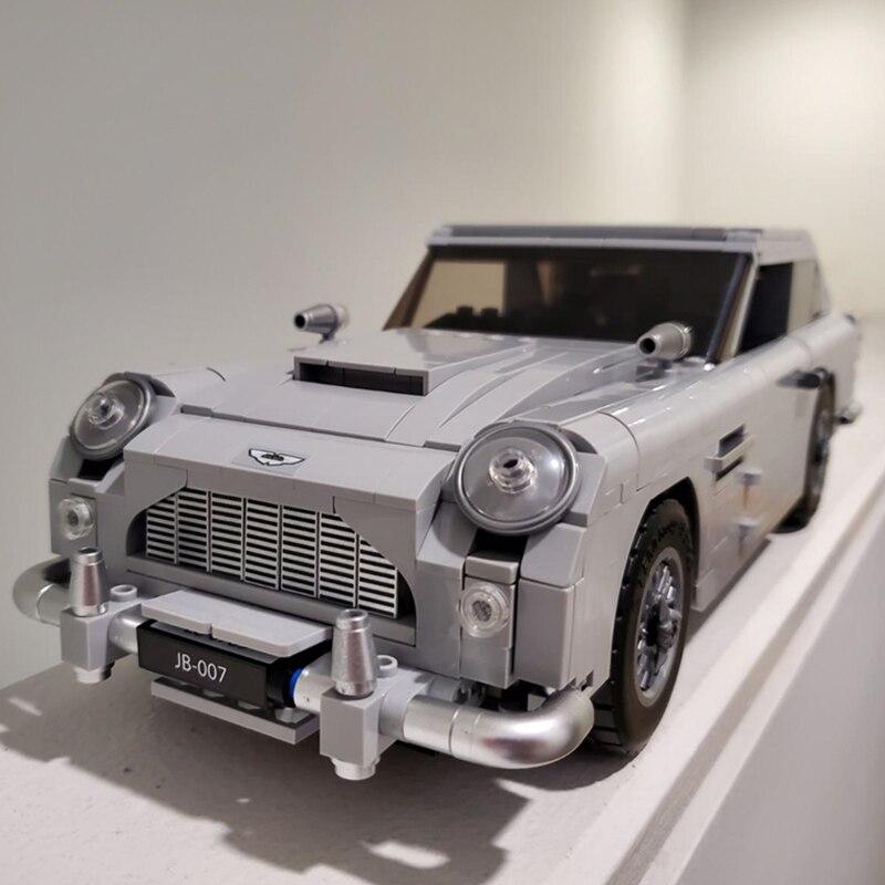 1450 Pcs Technic Creator Expert James Bond Building Blocks Sets Bricks Compatible Classic 007 10262 Cars Model Children Toy Gift
