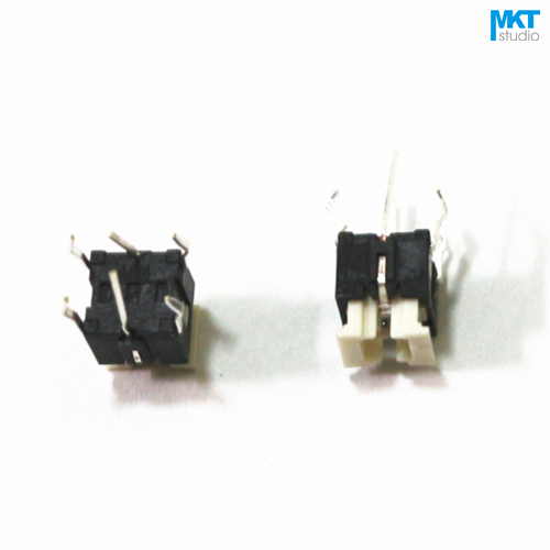 10Pcs 6x6mm Snap-in Micro Push Button Tactile Tact Momentary Switch With Green/Yellow/Red/White/Blue/Yellow-Green Light Led