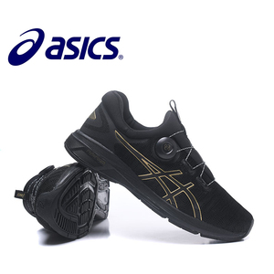 ASICS'S Outdoor Running shoes 2018 New Hot Sale ASICS GEL Running Shoes Man's Black and Gold T7D6N-0193 40-45 Size