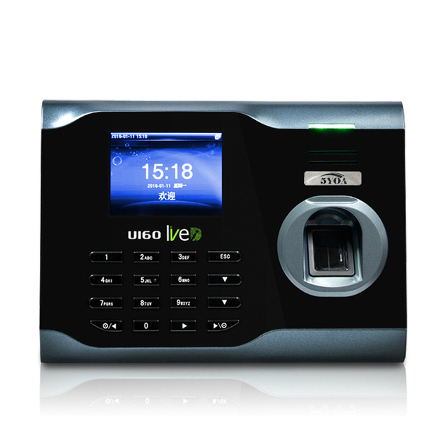U160 WIFI TCP/IP Biometric Fingerprint Time Clock Recorder