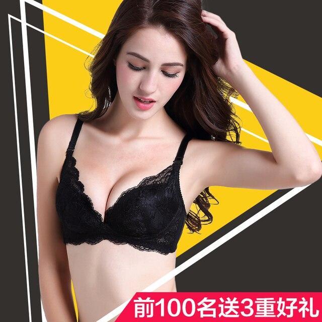 e57c3f2b0 100% Silk No Rims Bra Thin Double-sided Silk Lace Adjustment Type Sexy Girls