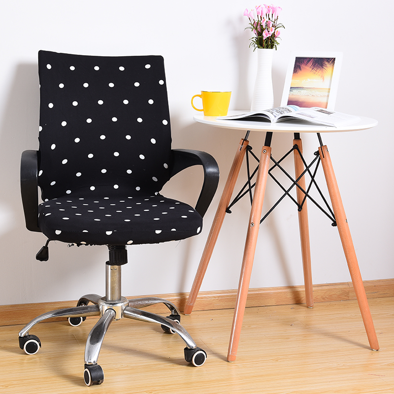 US $4.86 36% OFF|Office Spandex Chair Cover Slipcover S/M/L Armchair Cover  Rotating Chair Elastic Seat Cover fundas sillas comedor elastica-in Chair  ...