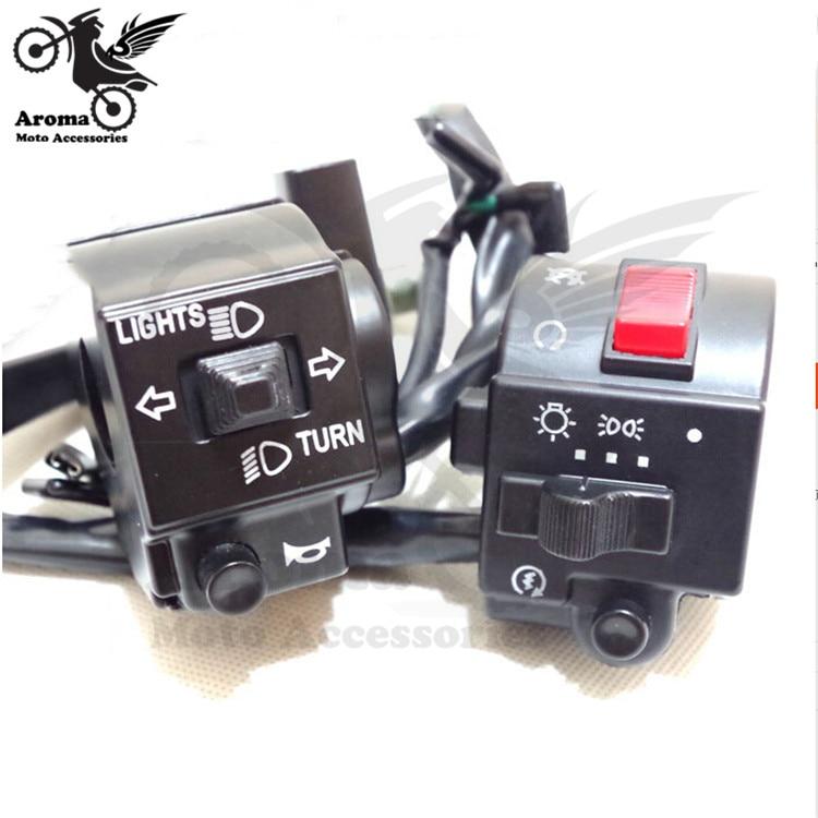 Marca de la motocicleta profesional interruptor para suzuki GS125 GN125 interruptores accesorios universales manillar moto Controlador moto
