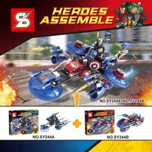 SY244 Heroes Assemble Minifigure Avenger Super Hero Captain America Winter Soldier 2016 Assemble Building Block Compatible Legoe