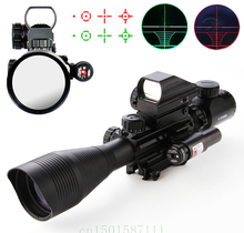 купить Riflescopes Hunting scopes 4-12X50 EG Tactical Rifle Scope & Holographic 4 Reticle Sight & Red Laser  онлайн