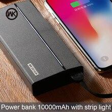 WK için Taşınabilir Şarj Güç Bankası 10000 mAh Powerbank Batterie Externe Güç Bankası Xiaomi iPhone X XS harici pil Poverbank