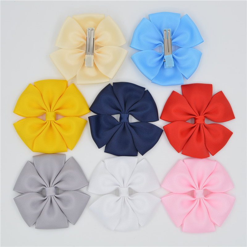 Handmade Ribbon barrettes Clips Boutique girl women Hair Bows With Clip Hairpins For Kids Girl Hair