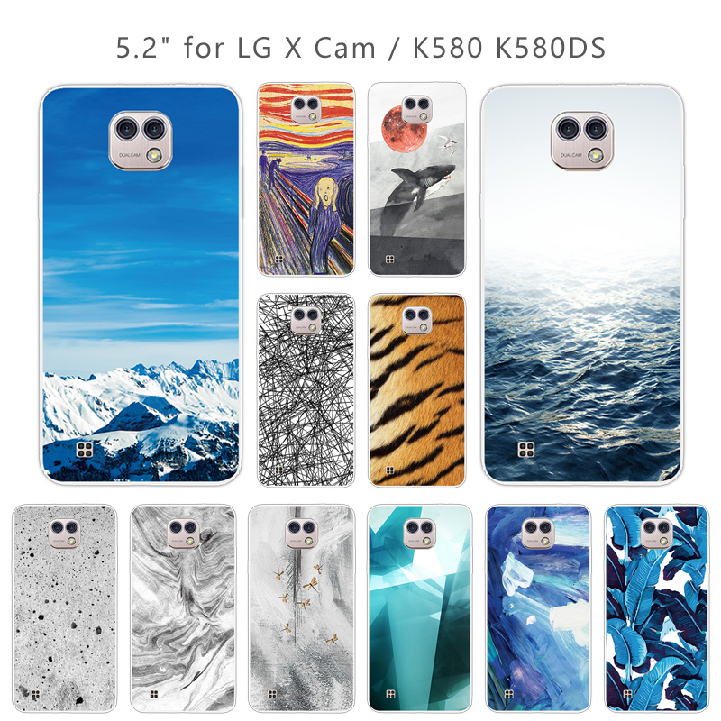 Cases for LG X Cam K580 K580Y Xcam K580 K580DS 5.2 Inch Landscape Case Soft Silicone Clear TPU Covers Skin for Lg X Cam K580