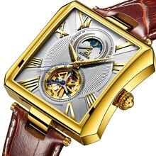 NEUE Automatische Mechanische Uhr Männer Sapphire Binger Luxus Marke Wasserdichte Uhren Männlichen Tourbillon armbanduhr Uhr B-5071M-2