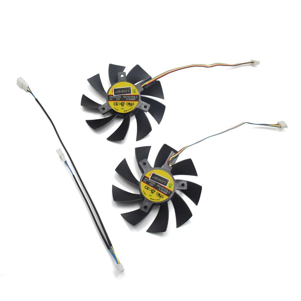 Nueva 85mm RX480 GPU enfriamiento ventiladores reemplazar para Gigabyte RX 480 GTX 1060/1050 empujes GTX 1050Ti G1 tarjeta de juego refrigerador