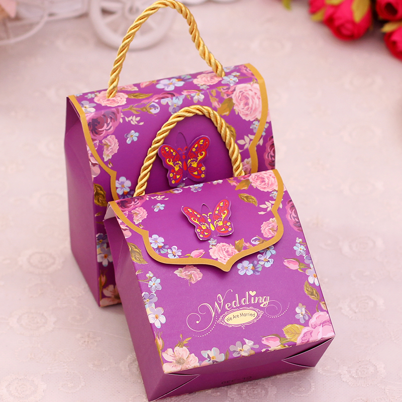 Chinese Wedding Gift Money Amount: ᑐ30pcs Paper Candy Boxes ᐃ With With One Rope Handles For