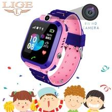 2019 New LBS Children Smart Watch Child Baby SOS Call Location Finder Locator Tracker Anti Lost Display Kids +Box