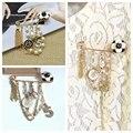 2016 Frete Grátis Elaine Europeus Bonito Broches Senhora Beleza Flor Imitação de Pérolas Beads Ouro Pin Broche Acessórios Br849