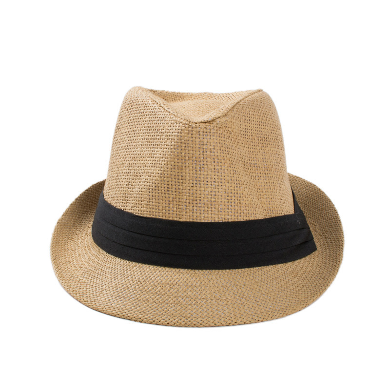 The Trendy Unisex Summer Straw Derby Hat// Khaki