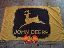 Jone deere logo flagge, Jone deere yellow club flagge, 90*150 CM polyster banner