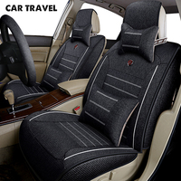 CAR TRAVEL flax car seat cover for renault logan 2 renault scenic 3 symbol auto accessories car styling car seat protector