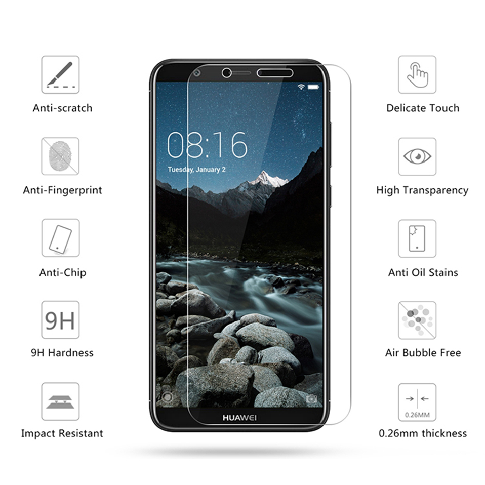 tempered glass screen protector for huawei honor 8 9 10 lite 8x 7a (6)
