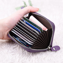 Women zipper credit card holder Patent leather fashion cardholder