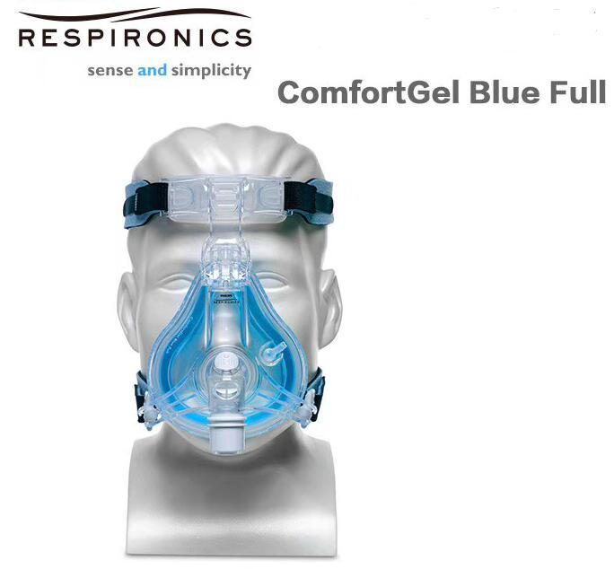 Comfortgel masque visage complet bleu bouche masque Nasal complet appareil respiratoire pour l'apnée du sommeil nez Anti ronflement