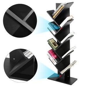 Image 5 - Modern 9 Tier Bookshelf Bookcase Books CDs Display Storage Rack Shelf Organization Cabinet