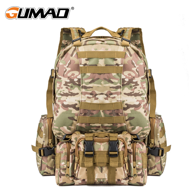 Camouflage Outdoor Military Molle Tactical Backpack Hiking Camping Trekking Hunting Rucksack Water Resistant Bag Assault Pack стоимость