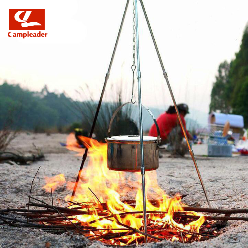 Outdoor Barbecue Camping Tripod Spreader Cookware Camping Picnic Tools Free disassembly Telescopic design CL013