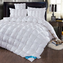 Luxury solid duck/goose down filler high quality cotton quilting duvet Queen/Full/Double/King Size multicolor winter comforter