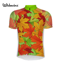 Maple leaves cycling jersey men and women bike pro mtb team bicycle clothing ropa ciclismo Black wear 5654