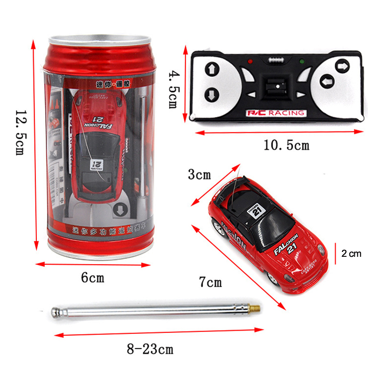 Remote Control Coke Car toys High Speed Truck Mini pop-top cars RC Car 4 colors random delivery Electronic kids boy toys 8