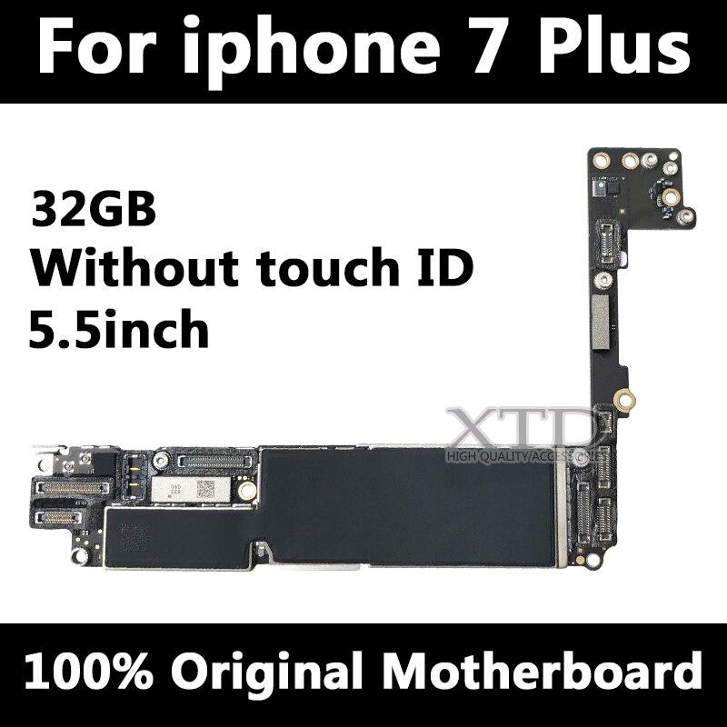 100% Оригинал разблокирован для iPhone 7 плюс материнская плата без сенсорного ID функция Материнские платы для iPhone 7 плюс материнская плата 32 ГБ