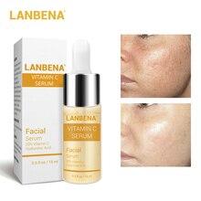 LANBENA витамин C сывороточная эссенция маска для удаления темных пятен веснушек крапинка выцветание нестареющее отбеливание Уход за кожей отбеливание против морщин