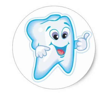 1 5 polegadas dente dentes felizes dentista dental classico adesivo