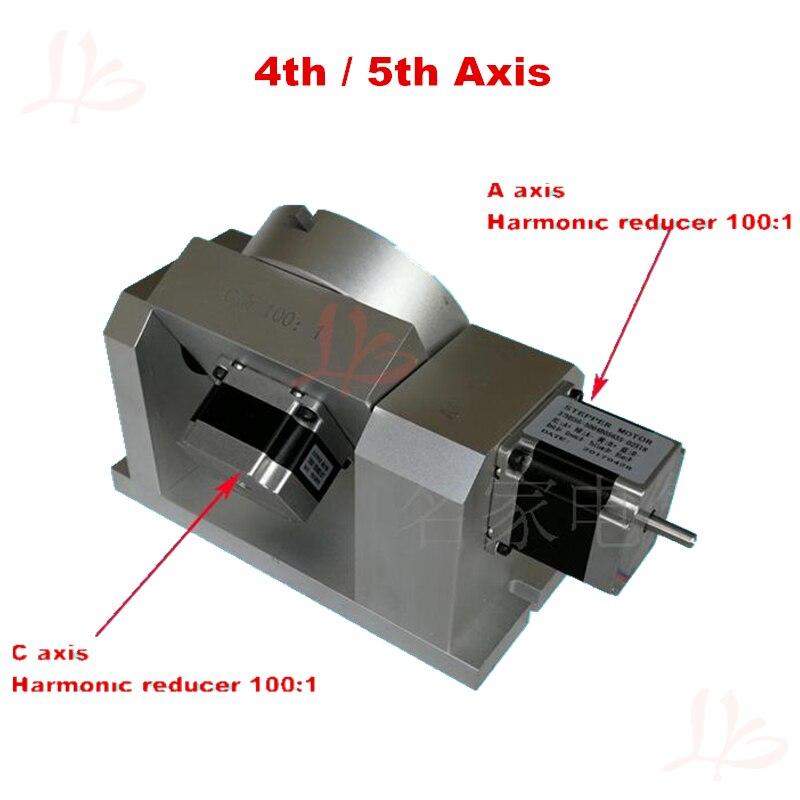 DIY CNC kits 4ème 5ème axe axe Rotatif CNC tête de division harmonique réducteur cylindre gravure