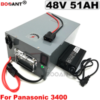 48V 50AH electric bicycle Li ion battery 2000W 3000W 13S 48v E bike Lithium ion battery for Panasonic NCR18650B + a metal box|Electric Bicycle Battery| |  -
