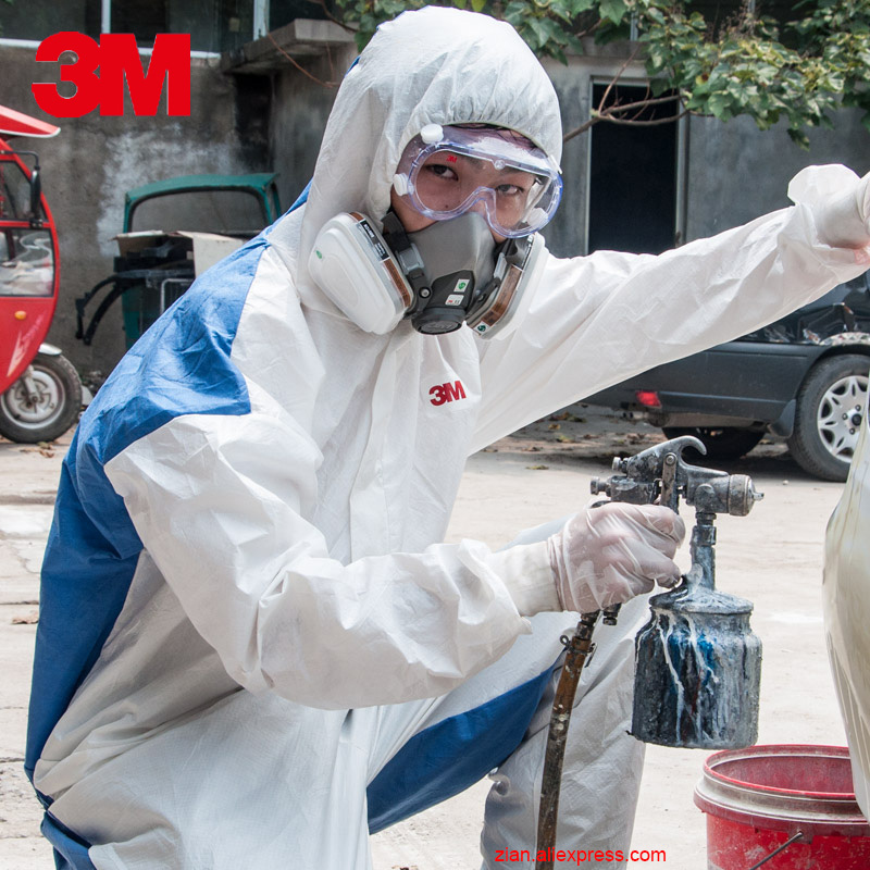 3M 4535 protective clothing overalls virus breathable anti-dust static Chemical clothing genuine pesticide paint clean clothing image