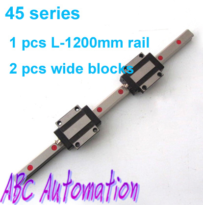 Heavy load capacity with good quality HGR45 linear rail 45mm 1pcs 45 linear guide L-1200 + 2pcs HGW45CA