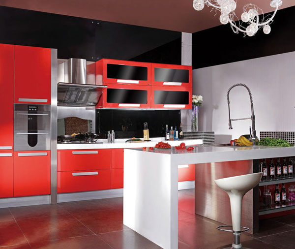 Kitchen Design Red And Black popular black cabinets kitchen design-buy cheap black cabinets