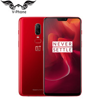 Original Oneplus 6 Waterproof Mobile Phone 4G LTE 8GB 128GB 6.28'' Snapdragon 845 Android 8.1 20MP 16MP Camera NFC